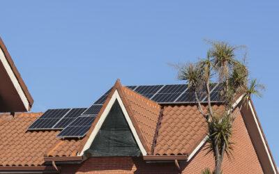 Chalet con instalación de energía solar