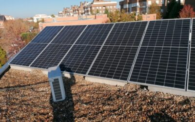 Instalación de 3,8 KW sobre tejado plano en Rivas Vaciamadrid