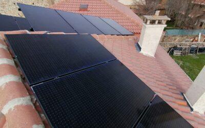 Instalación de energía solar de 3,4 kw en una vivienda rural de Segovia